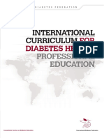 International  Curriculum for Diabetes health professional education by diabetesasia.org