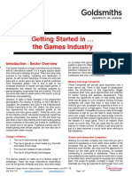 Getting Started in the Games Industry TB