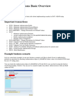 SAP Authorizations Basic Overview