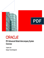 R12 Advanced Global Intercompany System Presentation