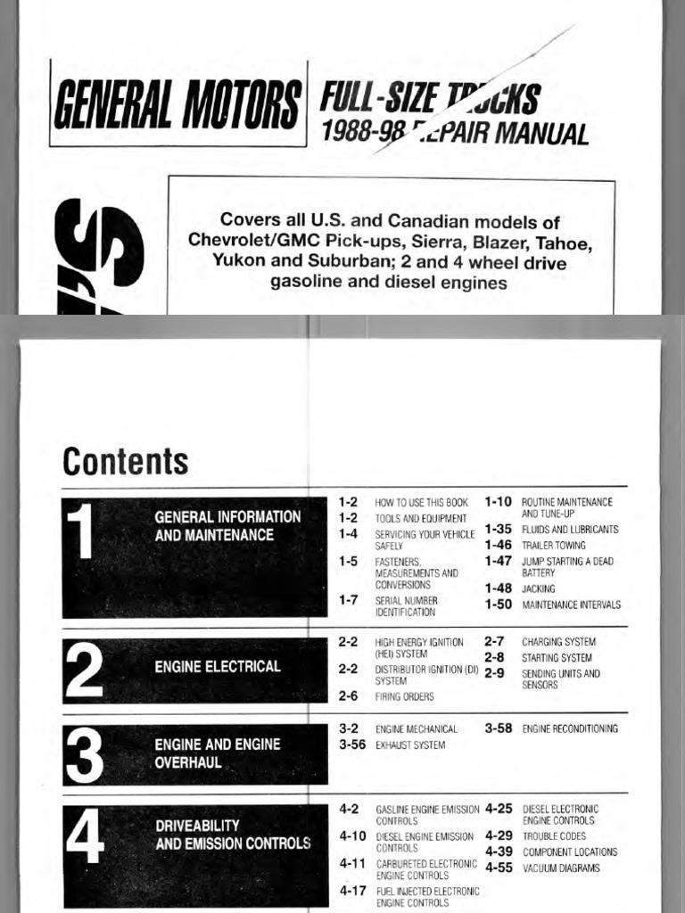 1994 gmc sierra service repair manual pdf nut hardware screw rh scribd com 1997 gmc sierra owners manual 1996 GMC Sierra
