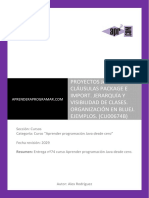 Proyectos Java Package Import Visibilidad Clases Ejemplos