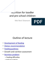 Nutrition for Toodler and Pre School Children Dr. Mei Neni
