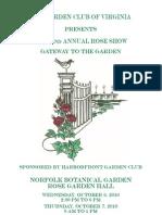 Garden Club of Virginia Rose Show 2010