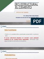 Diapositivas El Acero Estructural y El Cemento - Anthony Peter Solano Estrada