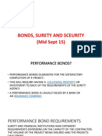 Lecture notes on Bonds, Surety & Security