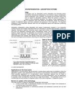 Sorption Refrigeration - Adsorption Systems