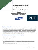 Samsung SCH u550 Manual