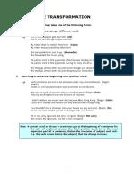 1. Sentence Transformation