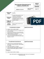 Formato Poes Limpieza y Desinfeccion Equipos (1)