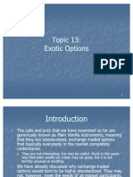 Topic 13 Exotic Options