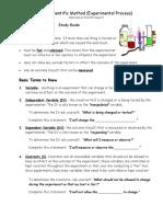scientific method notes study guide