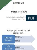 Geoteknik III Uji Laboratorium