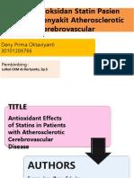 1. Efek Antioksidan Statin Pasien Dengan Penyakit Atherosclerotic Cerebrovascular