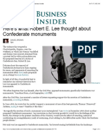 Robert E. Lee Opposed Confederate Monuments - Business Insider