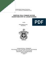 Bentuk Pola Tanam Sistem Agroforestry di Lahan Kering.doc