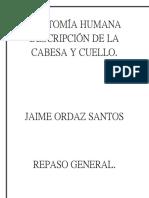 Anatomía Humana Descripción de La Cabesa y Cuello