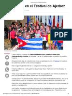Cuba Arrasa en El Festival de Ajedrez