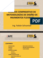 Analisis comparativos de métodos de diseño de Pavimentos