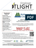 Employer Spotlights September 2017