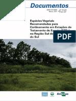 Espécies Vegetais Recomendadas Para Cortinamento Em Estações de Tratamento de Esgoto (ETES) Na Região Sul Do Rio Grande Do Sul