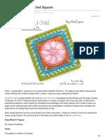 Pinkmambo.com-Posy Wheel 6 Crochet Square