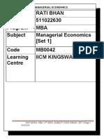 MB0042 Economics