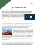 Agronegócio Brasileiro e o Apetite Da China - Valor Economico 2016