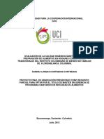 Evalucion de La Calidad Higienico Sanitarias de Las Preparacion de Alimentos Bucaramanga