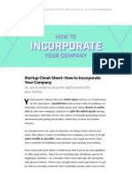 How to Incorporate Your Startup Company