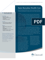 A Case Study - Saint Barnabas Health Care System
