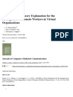 A Self-Efficacy Theory Explanation for the Management of Remote Workers in Virtual Organizations - Staples - 2006 - Journal of Computer-Mediated Communication - Wiley Online Library...pdf