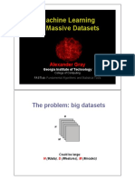 Machine Learning on Massive Datasets