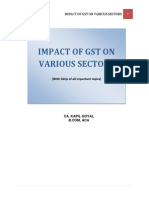 Impact of Gst on Various Sectors 1