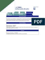 Processability of PMMA