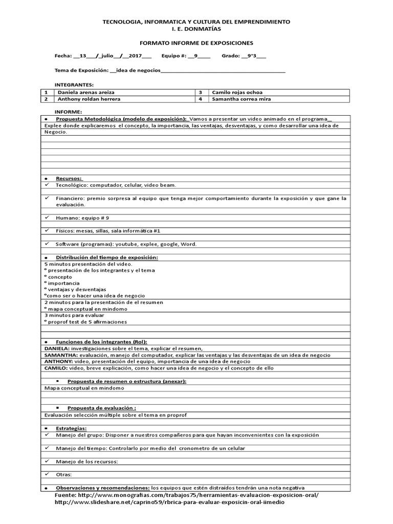 Fantastic Resumen Idea De Negocio Images - Entry Level Resume ...
