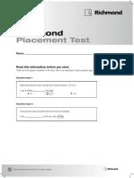Richmond Placement Test