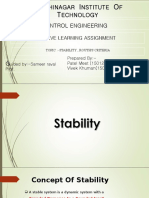 Stability in control systems