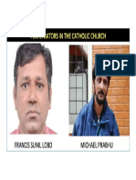 FRANCIS SUNIL LOBO CRIMINAL Case for Crimes Against the Catholic Church and HSI