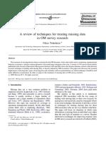 TSIKRITSIS Nikos Treating Missing Data on Survey Journal_of_Operations_Management_2005