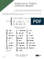Juego Biblico Descodificar Verso Codigo Morse