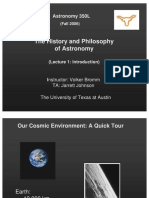 The History and Philosophy of Astronomy Lecture 1