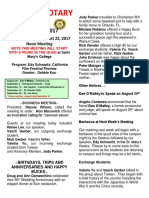 Moraga Rotary Newsletter August 15 2017