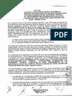 Acta de Otorgamiento de Buena Pro del Hospital Hipólito Unanue de Tacna.
