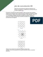 Ejemplo de Convolución 2D