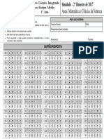 Cartao-Resposta-1-Ano-Integrado Matemática e Ciências Da Natureza