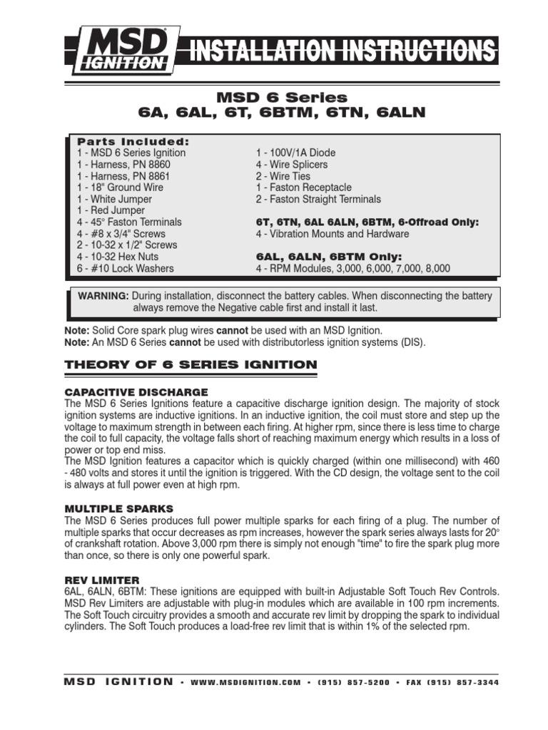 msd-6200 | Ignition System | Distributor on