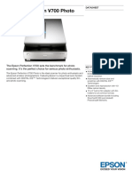 Epson Perfection V700 Photo Datasheet