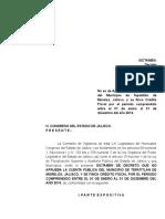 Tepatitlán de Morelos 2014 Dictamen de Decreto 2do.inf con cargo Emitido por el Congreso de Jalisco