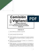 Orden del día sesión XXI Cuenta sobre Yahualica 2013 Congreso De Jalisco